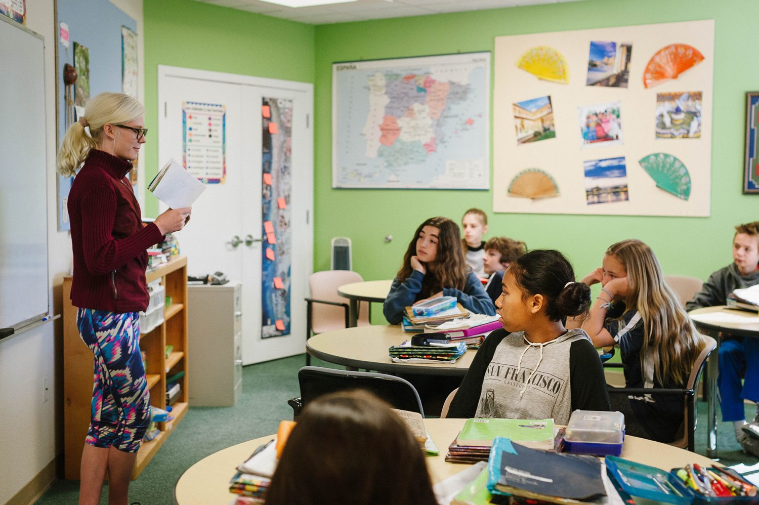 Santa Cruz Montessori Wavecrest Jr High Spanish Class